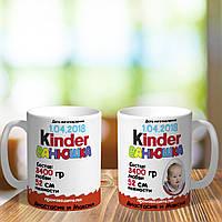Оригинальная чашка с приколом киндер для ребенка малышу подарок на день рождение