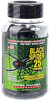 Жиросжигатель Оригинал США! Cloma Pharma Black Spider 25 Ephedra 100 кап.