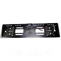 Авто камера заднего вида в виде рамки для номеров A58 (чёрная) с LED подсветкой (S08916)