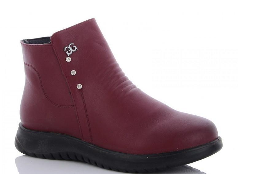 Ботинки женские бордовые WSMR-DB16-2