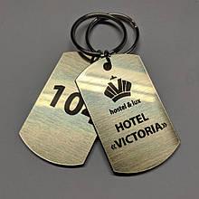 Жетон Бирка номерок на ключі для готелів готелів хостелів (метал)