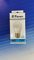 Светодиодная лампа Feron 7W 6400K E27, фото 1