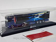 Scania c причепом, Herpa, в боксі. масштабна модель вантажного автомобіля, масштабу 1/87, H0