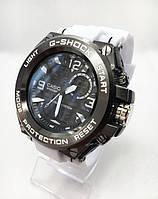 Часы мужские спортивные водостойкие G-SHOCK Casio (Касио), цвет графит с белым ремешком ( код: IBW417SO )