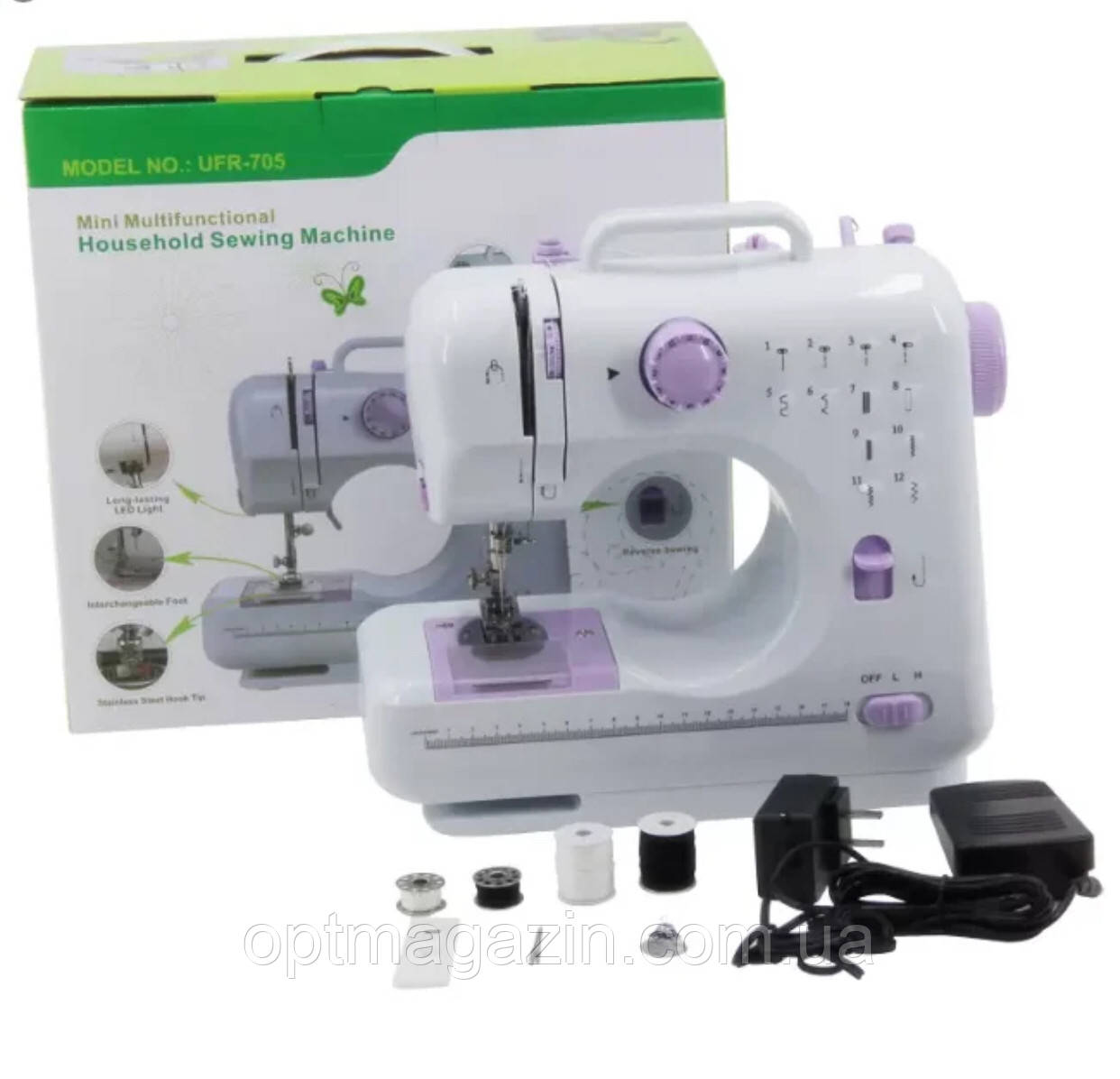 Швейная машинка Mini Multifunctional Household Sewing Machine UFR-705 12 в 1