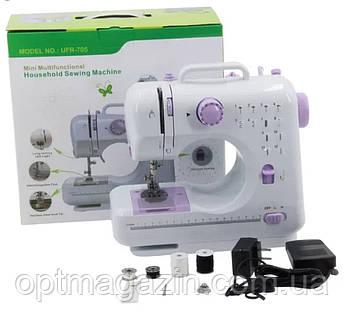 Швейная машинка Mini Multifunctional Household Sewing Machine UFR-705 12 в 1, фото 2