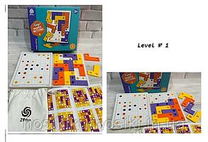 Дитяча гра-головоломка Shapes matching - Плашки, принцип тетрису 801 - 1 рівень