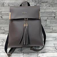Рюкзак сумка женский серый