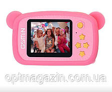 Детский цифровой фотоаппарат Smart Kids Camera 3 Series 20MP Full HD 1080P (Pink Bear), фото 2