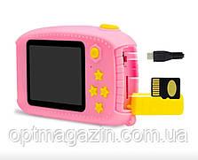 Дитячий цифровий фотоапарат Smart Kids Camera 3 Series 20MP Full HD 1080P (Pink Bear), фото 3