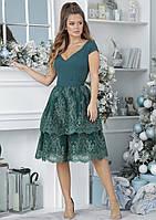Нарядное платье с гипюровой юбкой, фото 1