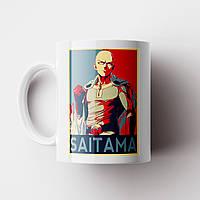 Чашка Сайтама Ван Панч Мен. Аниме. Saitama One Punch Man Чашка с фото, фото 1