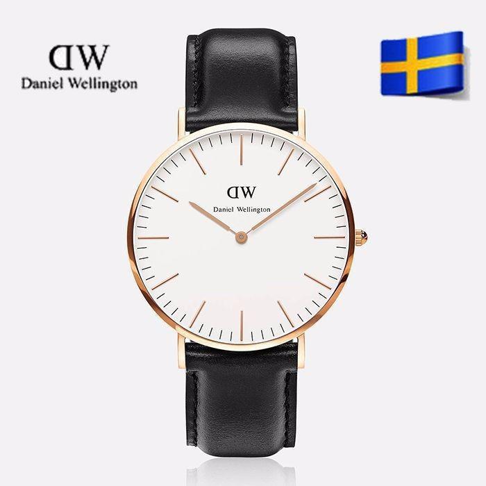 Стильные наручные часы Daniel Wellington кожа