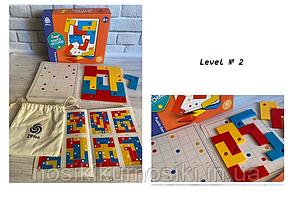 Дитяча гра-головоломка Shapes matching - Плашки, принцип тетрису 802 - 2 рівень