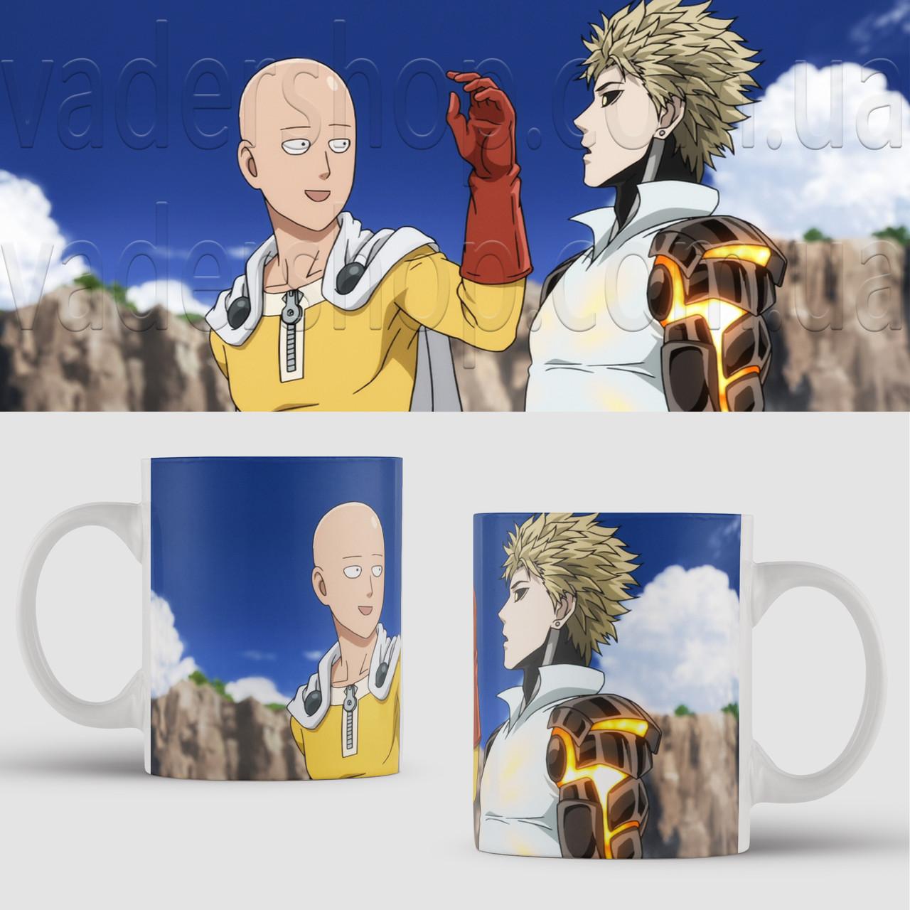 Чашка Ван Панч Мен Сайтама. Аниме. Saitama One Punch Man. Чашка с фото