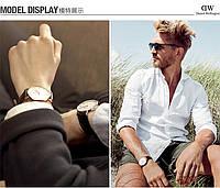 Стильные, модные наручные часы Daniel Wellington кожаный ремешок, фото 1