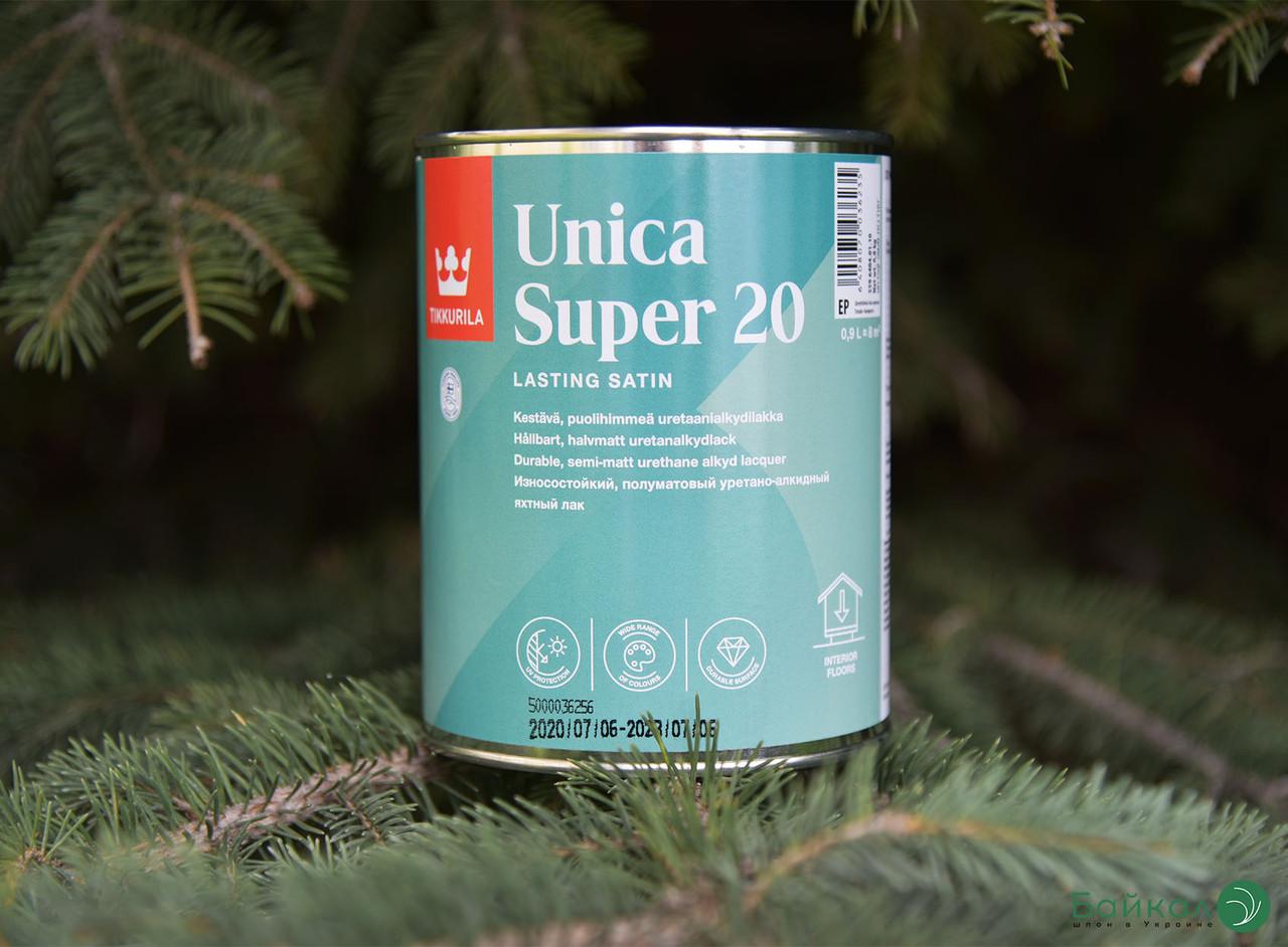 Полуматовый лак Unica Super 20 – Tikkurila (банка 0,9 л)