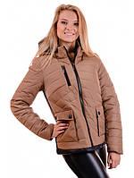 """Куртка женская зимняя коричневая """"Адель"""", фото 1"""