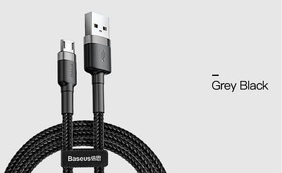 Кабель микро-USB, Baseus, 2,4 А, Black-Black BS-2460