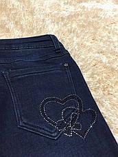 Джинсовые брюки утепленные для девочек оптом, F&D, 8-16 рр., фото 3
