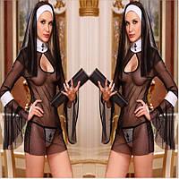 Сексуальный костюм Монахиня, хэллоуин  №203