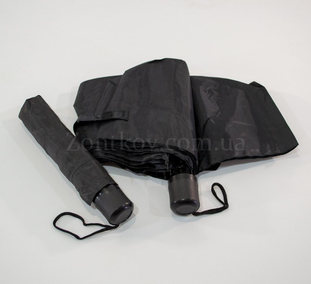 Черный механический зонтик оптом на 8 спиц