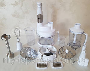 Кухонний комбайн багатофункціональний занурювальний Rotex RTB 970-W, кухонний подрібнювач