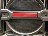 Аккумуляторная колонка чемодан Ailiang UF-1716, беспроводная Bluetooth 15 дюймовая акустика, комбоусилитель, фото 4
