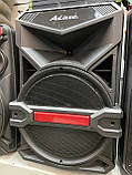 Аккумуляторная колонка чемодан Ailiang UF-1716, беспроводная Bluetooth 15 дюймовая акустика, комбоусилитель, фото 3