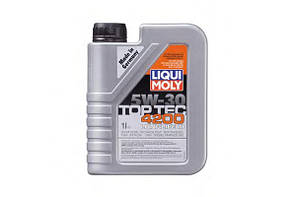 Моторное масло синтетика LIQUI MOLY Top Tec 4200 SAE 5W-30 1л Volkswagen BMW  Mercedes Fiat Peugeot Citroen