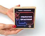 """Набір-гра """"Кайдани любові"""": печиво із завданнями для двох, гральні кістки з позами любові і наручники з хутром, фото 4"""