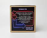 """Набір-гра """"Кайдани любові"""": печиво із завданнями для двох, гральні кістки з позами любові і наручники з хутром, фото 5"""
