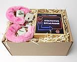 """Набір-гра """"Кайдани любові"""": печиво із завданнями для двох, гральні кістки з позами любові і наручники з хутром, фото 6"""