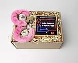 """Набір-гра """"Кайдани любові"""": печиво із завданнями для двох, гральні кістки з позами любові і наручники з хутром, фото 9"""