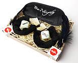 """Игра для взрослых """"Пошалим?"""" (черная): повязка на глаза, наручники, кубики с позами, перышки, шоколад, фото 2"""