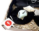 """Игра для взрослых """"Пошалим?"""" (черная): повязка на глаза, наручники, кубики с позами, перышки, шоколад, фото 8"""