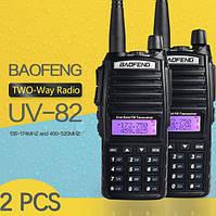 Комплект 2 Рації BAOFENG UV-82 5 Вт з гарнітурою