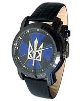Часы мужские наручные с гербом Украины, национальная символика, черный ремешок