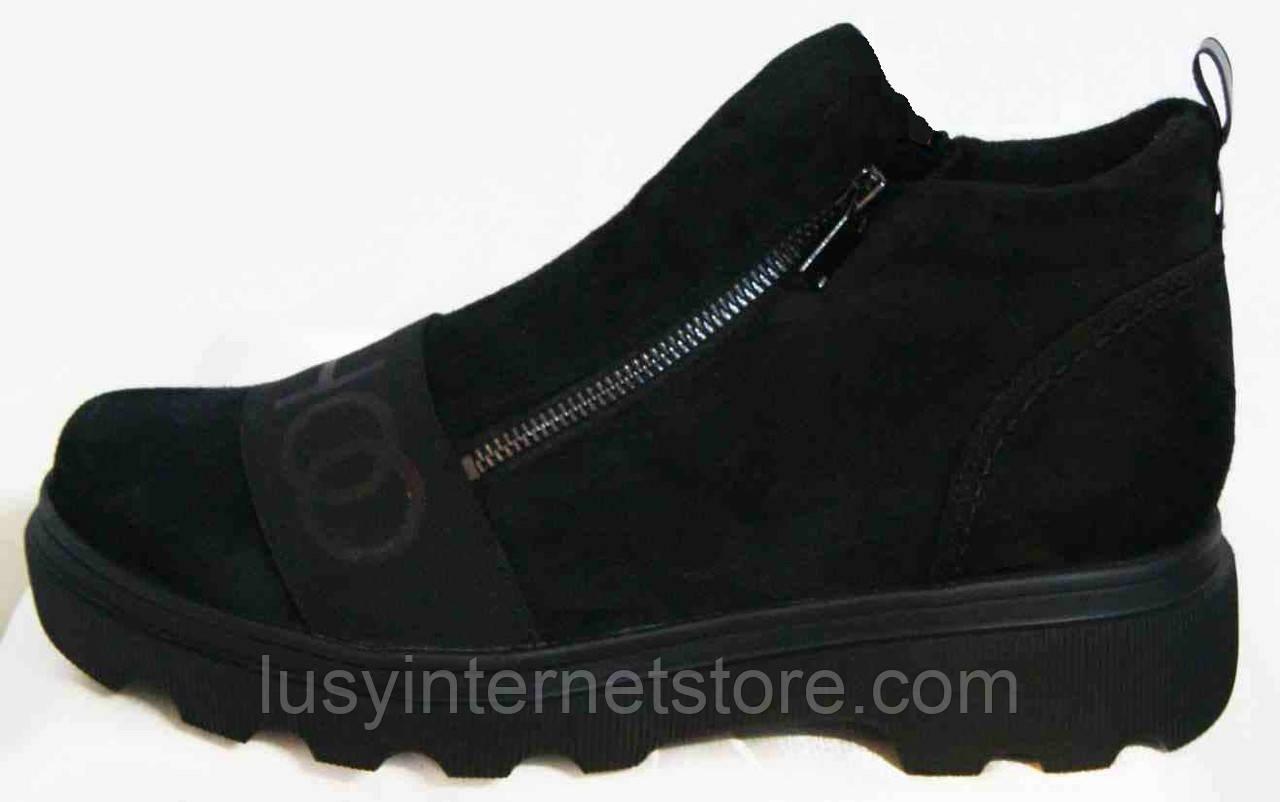 Ботинки женские замшевые большого размера от производителя модель МИ5261-11