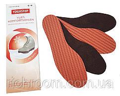 Устілки для взуття флісові (2 пари) YOURSTEP, комфортні перфорированые