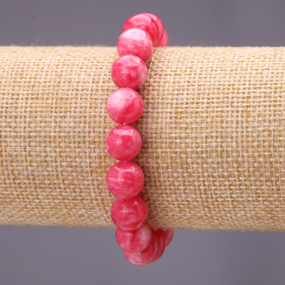 Браслет из камня Турмалин (им) гладкий шарик d-10(+-)мм на резинке обхват 18см