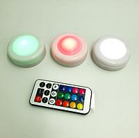 Светодиодные фонари LED подсветка Magic Lights Лампы для дома 3 шт с пультом сенсорные