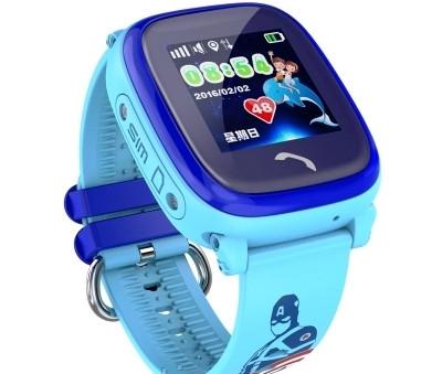 Детские Смарт часы GPS DF25 (aqua)
