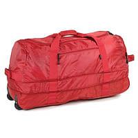 Сумка дорожная на колесах Members Foldaway Wheelbag 105/123 Red, фото 1