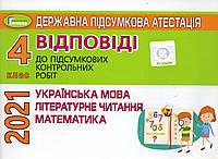 Відповіді та творчі завдання. ДПА 2021 для учнів 4 класу  (для шкіл з  українською мовою навчання)