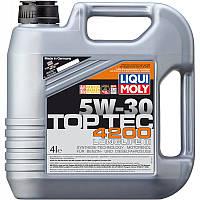 Моторное масло синтетика LIQUI MOLY Top Tec 4200 SAE 5W-30 4л Volkswagen BMW  Mercedes Fiat Peugeot Citroen