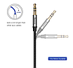 Аудио кабель, Baseus, Aux, для наушников Aux 3,5 мм ,Silver BS-2330, фото 2