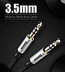 Аудио кабель, Baseus, Aux, для наушников Aux 3,5 мм ,Silver BS-2330, фото 5
