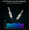 Аудио кабель, Baseus, Aux, для наушников Aux 3,5 мм ,Silver BS-2330, фото 7