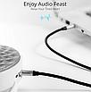 Аудио кабель, Baseus, Aux, для наушников Aux 3,5 мм ,Silver BS-2330, фото 8